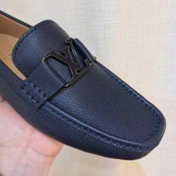 Giày lười LV nam phiên bản xanh đậm