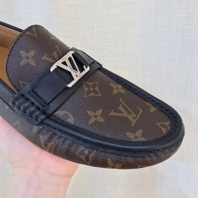 Mũi giày LV nam LVGN845 đượ bo viền đen