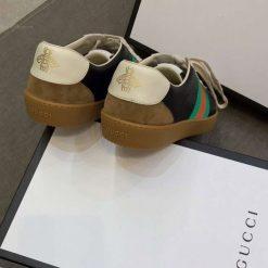 Chất liệu da và da lộn trên đôi giày gucci siêu cấp đều được nhập từ châu Âu
