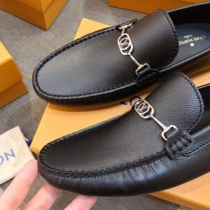 Mũi giày LV nam siêu cấp da taiga