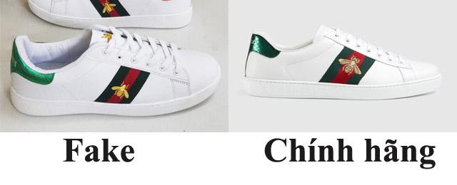 Phân biệt giày Gucic thật với fake