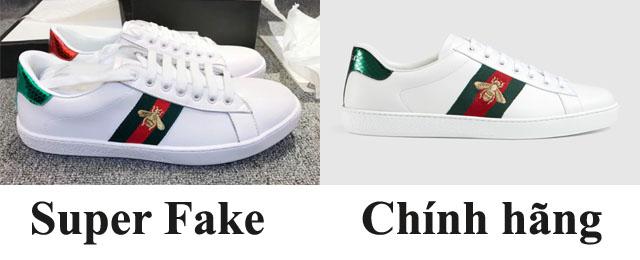 Phân biệt giày Gucic thật với Super fake