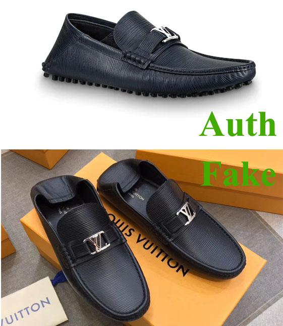 Phân biệt giày LV chính hãng với siêu cấp
