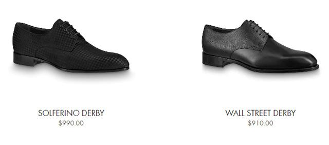 Giá bán giày tây LV nam