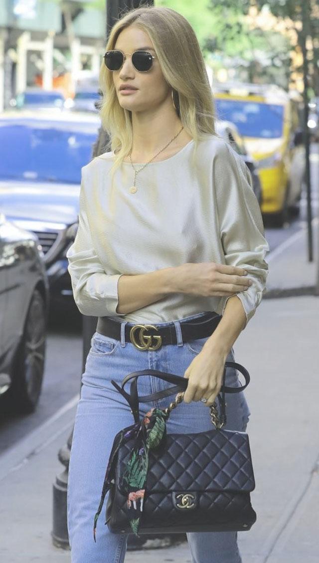 Thắt lưng Gucci của Rosie Hungtington