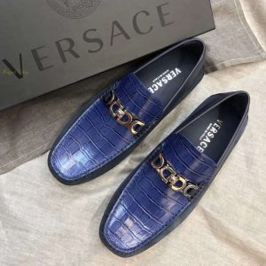 Giày Versace nam siêu cấp dập vân da cá sấu