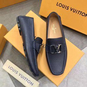 Giày LV nam siêu cấp màu xanh đậm