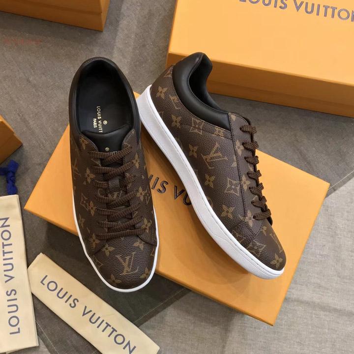 Giày LV sneaker màu nâu