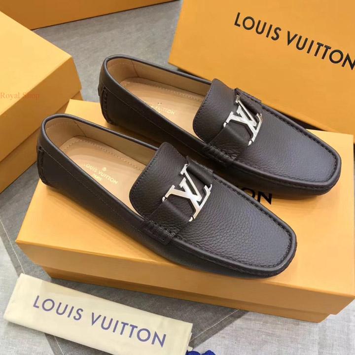 Giày lười LV nam siêu cấp màu nâu