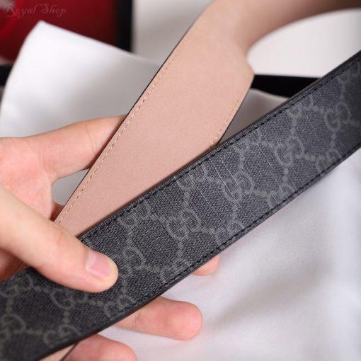 Chất liệu dây da trên dây nịt Gucci