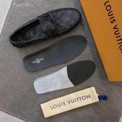 Chi tiết giày nam buộc dây LV