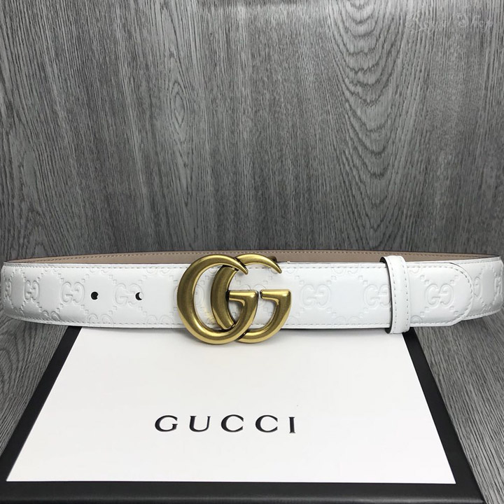 Dây nịt Gucci nam màu trắng GCTL5793