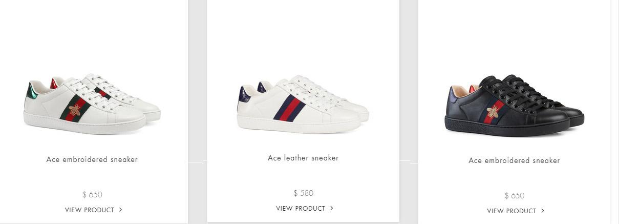 Giày gucci Sneaker có giá bán bao nhiêu