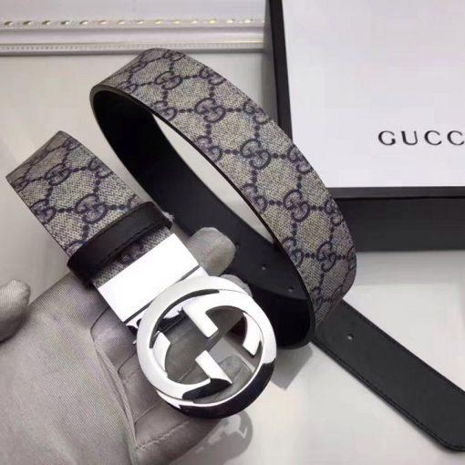 Trên tay thắt lưng Gucci 2 mặt da siêu cấp GCTL877