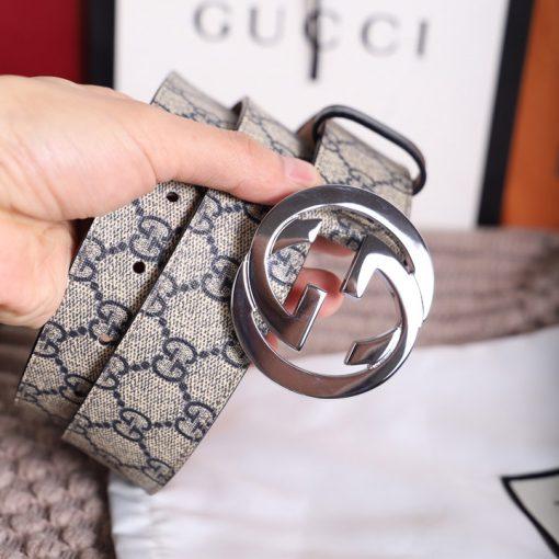 Trên tay thắt lưng Gucci nam cao cấp