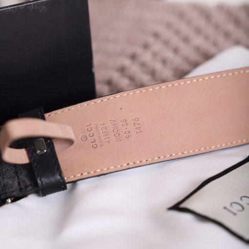 Chất liệu dây da trên thắt lưng Gucci