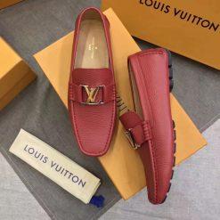 Giày nam LV màu đỏ siêu cấp