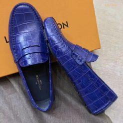 Giày LV màu xanh da trời