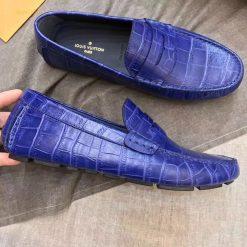 Giày LV vân da cá sấu