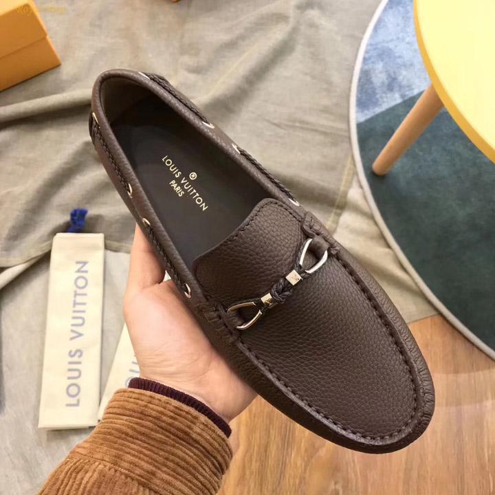 Giày LV nâu siêu cấp