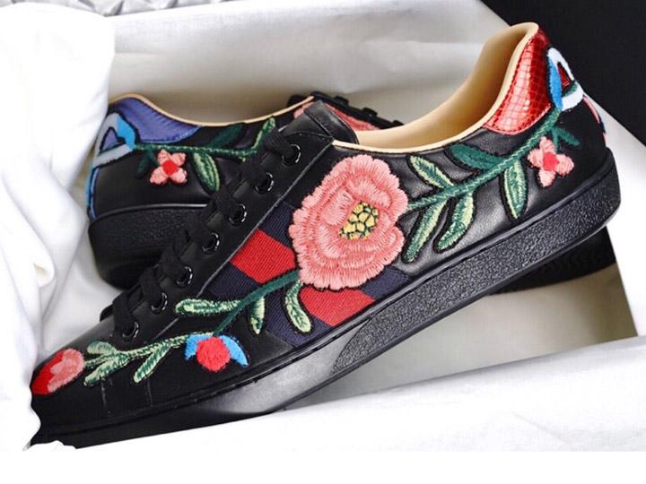Giày Gucci hoa hồng siêu cấp