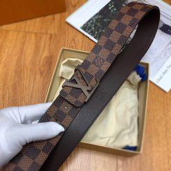 Thắt lưng Louis Vuitton caro nâu