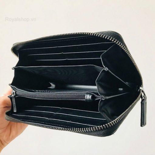 Chi tiết bên trong ví dài nam