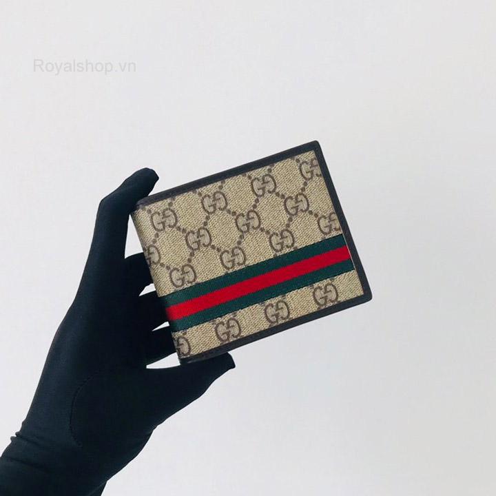 Trên tay ví ngắn nam Gucci siêu cấp GCVN8065