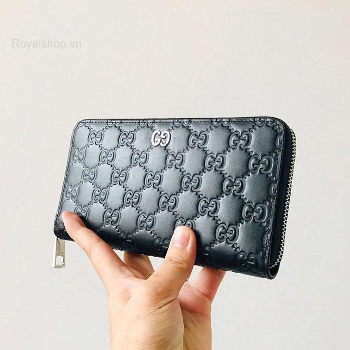 Trên tay ví dài nam Gucci siêu cấp GCVN8055