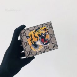 Trên tay ví nam Gucci đầu hổ siêu cấp GCVN8068