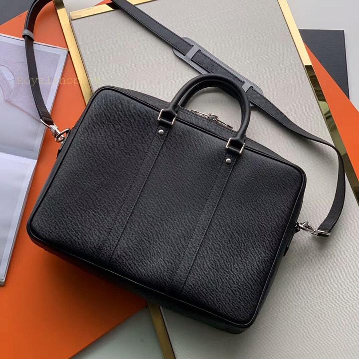 Chi tiết mặt sau túi xách LV nam công sở LVTN8817