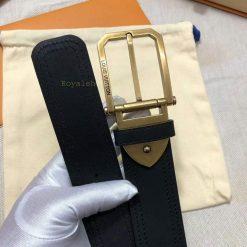 Dây nịt Louis Vuitton đen siêu cấp LVTL591