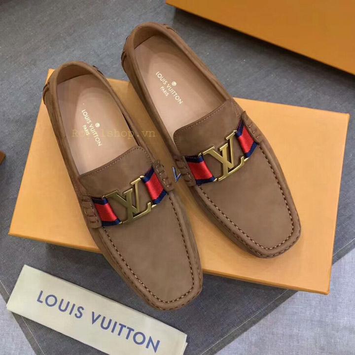 Giày lười nam LV màu nâu siêu cấp LVGN8129