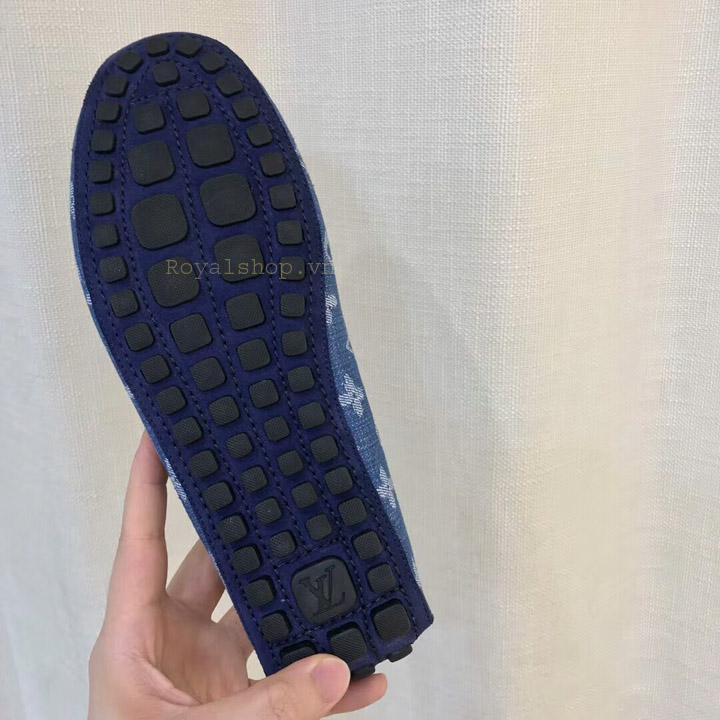 Phần đế giày lười nam LV thắt nơ