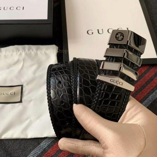 Trên tay dây lưng nam Gucci siêu cấp