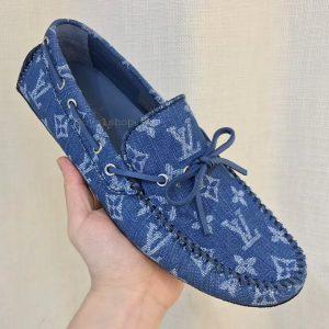 Trên tay giày lười nam LV siêu cấp LVGN8119