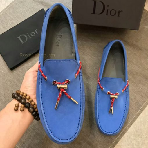 Trên tay giày Dior nam thắt nơ DIGN882