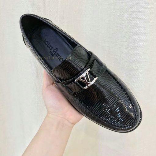 Trên tay giày nam công sở LV siêu cấp LVGN8121
