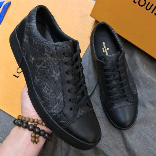 Trên tay giày nam sneaker Lv hoa bông siêu cấp LVGN8133