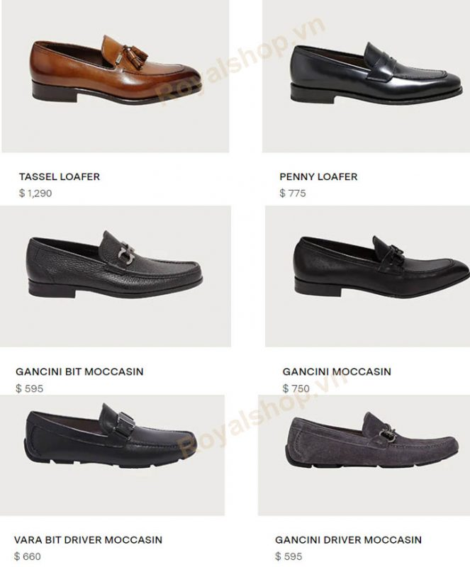 Giá bán dòng giày mocca loafer Salvatore