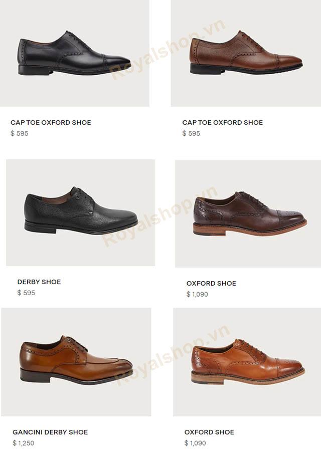 Giá bán giày nam buộc dây Salvatore Ferragamo