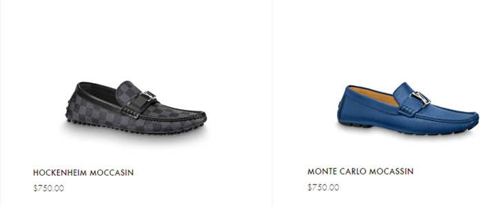 Giá bán giày lười nam LV