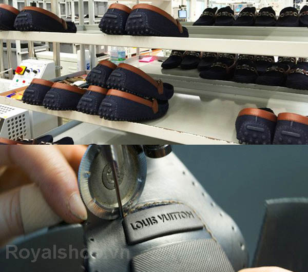 Quy trình chế tạo một đôi giày lười nam Louis Vuitton
