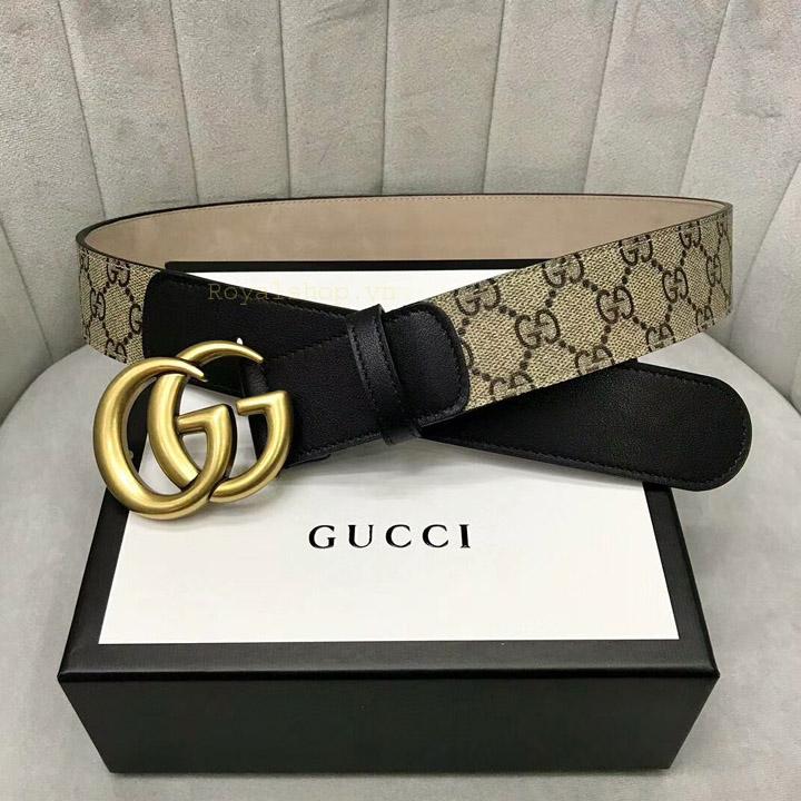 Dây nịt Gucci và mặt khóa GG