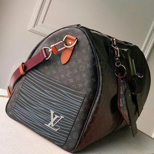 Cạnh bên của túi du lịch Louis Vuitton siêu cấp TDL8025