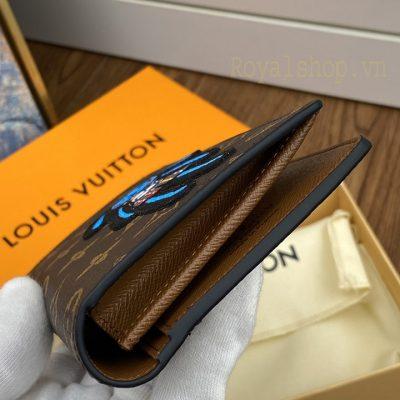 Form ví dài nam LV được làm gọn gàng