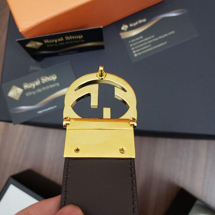 Mẫu thắt lưng Gucci nam khóa vàng đẹp
