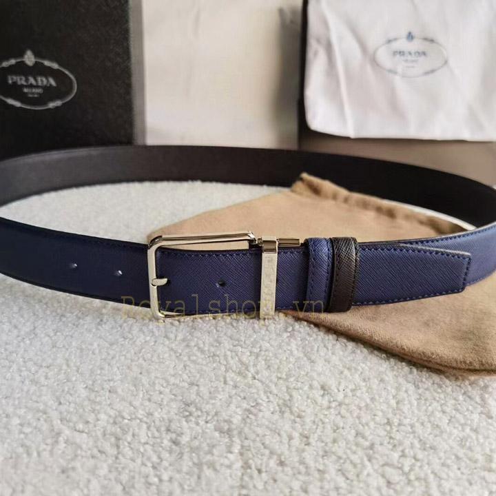 Mặt khóa nam Prada làm từ PVD cao cấp sáng bóng