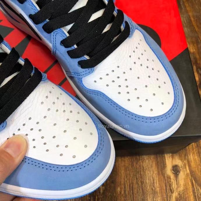 Mũi giày NIke Jordan unisex được làm tinh xảo