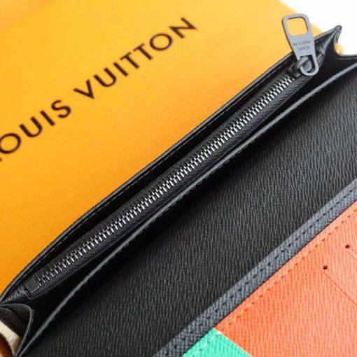 Khóa kéo bên trong ví dài nam VD6018